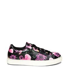 Steve Madden Throw-Back Thursday Leather Kicks Size 6 US 36 EU Floral Bloom NEW #SteveMadden #FashionSneakers