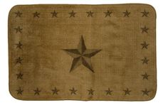 Rustic Star Light Chocolate Rug for your Texas Decor