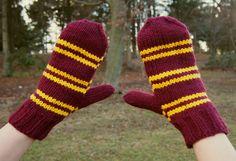 Gryffindor mittens - via bookriot.com