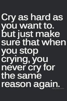 I will cry if i want to...