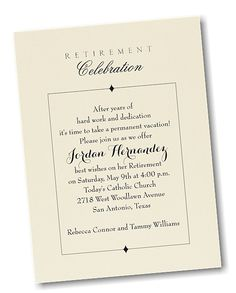 Retirement Party<br>Party Invitation