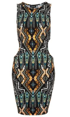 Topshop Tribal Print bodycon Dress, £26