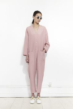HORSES ATELIER, Patch Pocket Jumpsuit, Blush |
