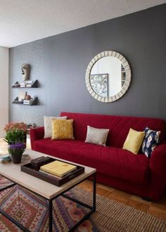 Red Color for Living Room