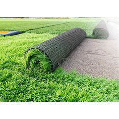 Con-Tact Brand Turf features a low-luster, rich color array of blended polyethylene green fibers, and a true-to-life curled brown thatch underlay, providing an authentic real grass look for your new l