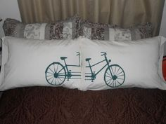 Bicycle Built  for Two Hand Painted Standard by TreasuresShop, $35.00