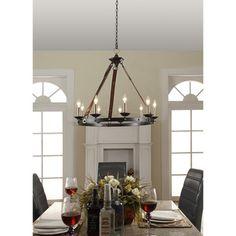 Cavalier 9-light Black Chandelier | Overstock.com Shopping - Great Deals on Chandeliers & Pendants