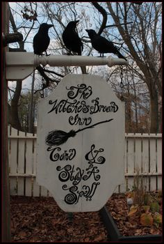 Witches Tea Party SignCome Sit A Spell Holidays Halloween