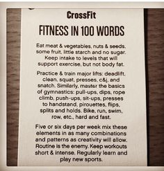 CrossFit Fitness in 100 Words Easy Weight Loss, Healthy Weight Loss, How To Lose Weight Fast, Reduce Weight, Fitness Nutrition, Fitness Tips, Fitness Quotes, Crossfit Baby, Crossfit Motivation