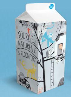 Source Naturelle de Reconfort milk | Isabelle Arsenault. milk i would buy.