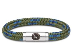 BOING #Sailing & #Climbing Rope Wristband Bracelet: Middy PEACOCK - Moss Green & Blues | Lush Labels British designed jewellery, accessories & gifts #ShopifyPicks
