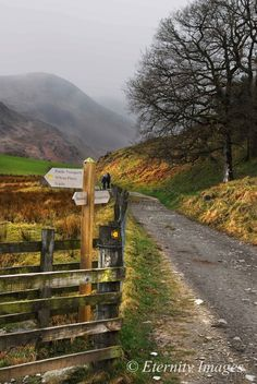 Footpath above Little Langdale , Cumbria . Lake District , England .