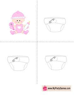 Free Printable Who got the Baby Game in Pink Color