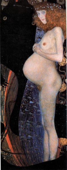 Gustav Klimt, Hope I, 1903, Oil on canvas, 189,2 x 67 cm, National Gallery of Canada
