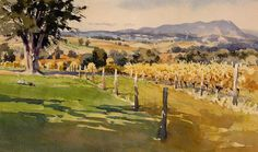 Yarra Valley Fall by Mike Kowalski Watercolor ~ 8 x 12
