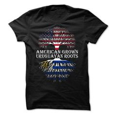 American Grown - Uruguayan Roots - #gift for mom #gift for him. GET IT => https://www.sunfrog.com/States/American-Grown--Uruguayan-Roots.html?68278