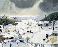 December | Grandma Moses & a poem