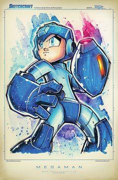 Art inspired by Mega Man | Capcom Created by Rob Duenas