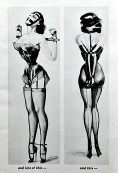 Illustration by John Willie in Bizarre Magazine No.11, 1952