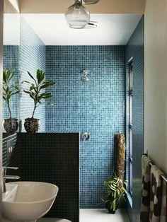 Blue green tile