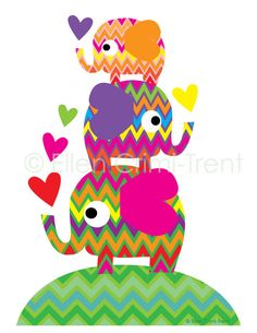 cute elephant kids wall art