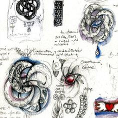From the sketchbook of @Sophie LB Harley, who designed the gorgeous Algerian Love Knot necklace from 'Casino Royale'.
