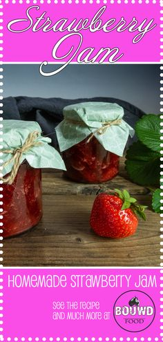 It´s very easy to make and tastes delicious. Much healthier and less sugar. Homemade Strawberry Jam, Sugar, Fruit, Vegetables, Healthy, Easy, Recipes, Food, Rezepte
