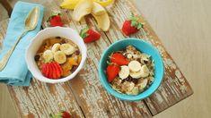 zabkása Chia Puding, Okra, Healthy Recipes, Healthy Foods, Acai Bowl, Meal Prep, Oatmeal, Meals, Cooking