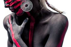 Woman, Colors, Style, Bodypaint, Girl, Beauty