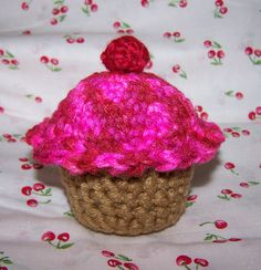 Amigurumi cupcake pattern.  I used this pattern a while back and it was easy.