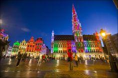 Grand-Place arc-en-ciel - Grote Markt in regenboogkleuren - Grand-Place in rainbow colors (05.15) - Belgian Pride © Eric Danhier