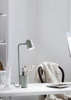 Like this new 'Buddy' lamp by Northen Lighting: it's a lamp and storage space in one and I like that you can store things in the foot of the lamp. Very clever idea.