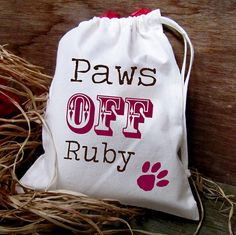 Personalised 'Paws Off' Pet Treat Bag