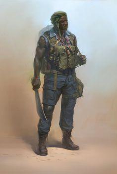 ArtStation - african soldier, Denis Didenko