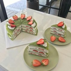 🍰🎂🍨☕️🍡🍪🥐🥞 ~~~ Pretty food makes me happy Cute Desserts, Dessert Recipes, Good Food, Yummy Food, Eat This, Cafe Food, Aesthetic Food, Aesthetic Green, Aesthetic Coffee