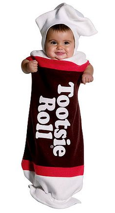 The Tootsie Roll Baby Bunting Costume For Babies is the best 2018 Halloween costume for you to get! Everyone will love this Baby/Toddler costume that you picked up from Wholesale Halloween Costumes! Cute Kids Halloween Costumes, Cute Baby Costumes, Theme Halloween, Toddler Costumes, First Halloween, Happy Halloween, Family Halloween, Halloween Stuff, Halloween Clothes