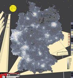 Deutschlandkarte: Die dunkelsten Orte