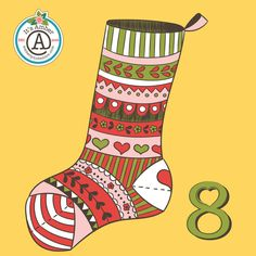 Pretty Stocking by Amber Lynn Benton for #ItsAdvent2016