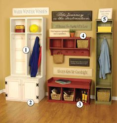 Country Living Projects | country home interior decorating ideas for mudroom