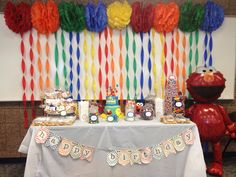 Andrew's First Birthday - Sesame Street theme :) -- candy buffet #regalcrafts