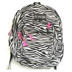 Trans by jansport backpack Zebra print. Used once. No flaws. Please submit an offer if interested.   *ship same/ next day *pet/smoke free home *no holds/trades Other