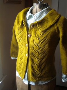 pretty cardigan with collar and texture, blouse, add wide leg trousers or A-line…