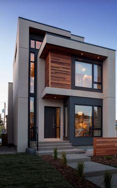 Best Modern House Design, Modern Exterior House Designs, Duplex House Design, Minimalist House Design, House Front Design, Modern Architecture House, Small House Design, Modern House Plans, Architecture Design