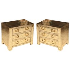 Vintage PAIR SARREID Brass Chests Trunks by feelinvintage on Etsy, $3400.00