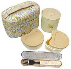 Lunch Bento Box Set - Thermal Jar & 2 Containers & Fork & Case - made in Japan - Totoro - 2009 Totoro, Cute Bento Boxes, Bento Box Lunch, Easy Healthy Meal Prep, Easy Healthy Recipes, Horse Party, Cooking Supplies, Cute Kitchen, School Lunch