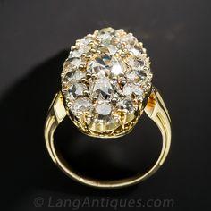 Antique Diamond Dinner Ring - 10-3-7009 - Lang Antiques Ring Finger, Diamond Cuts