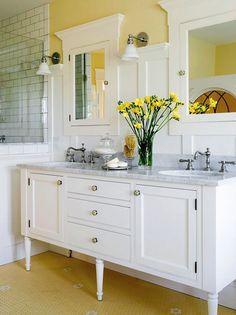 ¿Quieres cambiar los colores de tu baño? Con estos no te puedes equivocar: Foto © Better Homes and Gardens