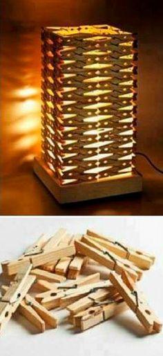 DIY Clothespin's Lamp