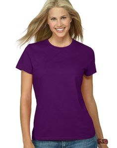 Hanes Silver Ladies' Classic Fit Ringspun Cotton Jersey Tee *** You can find more details by visiting the image link.