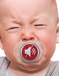 If you've ever wished (you can admit it) for a mute button for a crying baby, now you have one. Sort of. With this totally wonderful geeky baby gift.